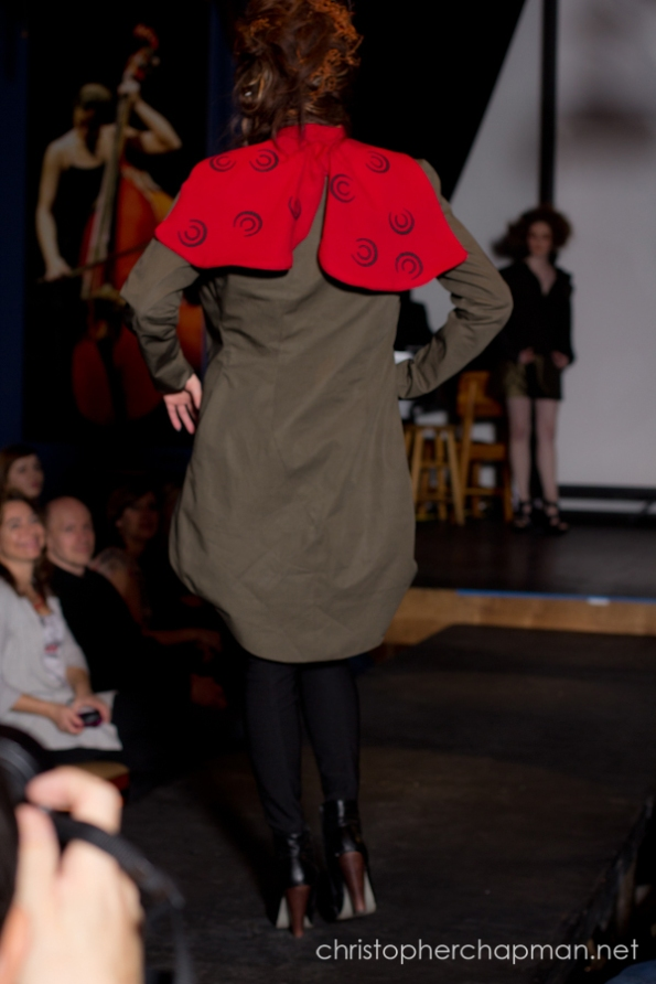 The back view of Anna Dicklhuber's Comcast inspired design. Photo by Christopher Chapman