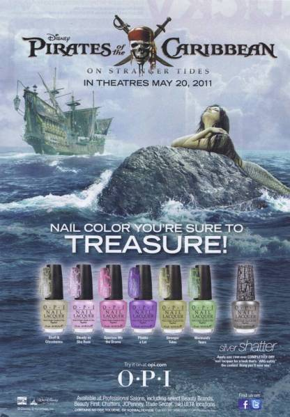 Lacquer Nail Polish by O.P.I. that crackles! Ad from Lucky Mag